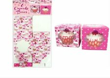 1.6.12. PCS CUPCAKE CUP FAIRY CAKE MUFFIN BOXES W CLEAR WINDOW GIFT BOX AM7769