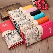 Womens Ladies Girls PU Leather Card Holder Long Purse Wallet Clutch Handbag Gift