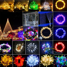 20-100 LED Solar/Battery Power Fairy Light String For Outdoor Decoration Party