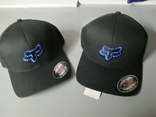 Fox Racing MX Headwear Legacy Flex Fit Hat Black Blue Cap 58225 New Ball Cap