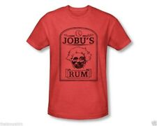 T-Shirts Sizes S-2XL New Mens Major League Jobu's Rum Heather Red Tee Shirt