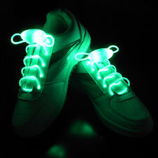Shiny LED Shoelaces Flash Light Up Glow Stick Strap Shoelaces Disco Party 1 Pair
