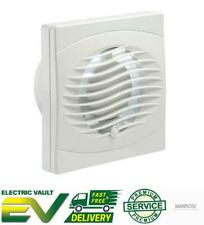 "Manrose Intervent Bathroom Extractor Fan Wall/Ceiling White 4"" and 6"" Range"