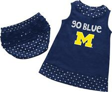 Infant University of Michigan Wolverines Heartbeat Dress with Bloomers