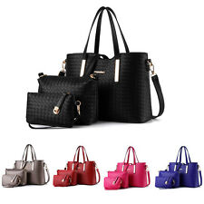 3pcs Fashion Women Leather Handbag Shoulder Bag Messenger Satchel Purse Tote