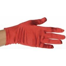 Adult Red Polyester Costume Gloves