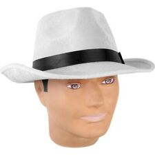 Adult White Velvet Fedora Hat