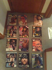 Lot of 81 WWE,WWF,RAW Magazines. Posters. and Brand New WWE L- Unforgiven Tshirt