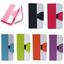 PU Leather Wallet Card Flip Cover Stand Case For Samsung Galaxy S5 i9600