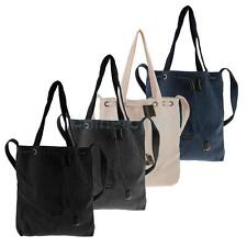 Women's Casual Canvas Tote Shoulder Handbag Tote Crossbody Message Bag
