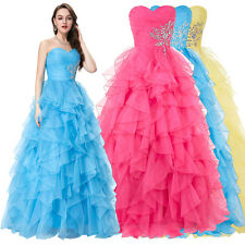 Sweetheart Quinceanera Long Formal Prom Party Ball Gown Pageant Wedding Dresses