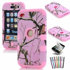 For ipod touch 4 4th gen Hybrid Impact Camo Rubber Rugged Hard Case Cover Skin