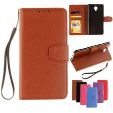 PU Leather Lychee Texture Wallet Flip Card Slots Case Cover for iPhone Samsung