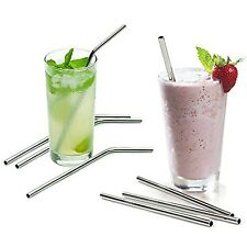 10.5 inch 18/8 Stainless Steel Reusable Drinking Straws for 20/30 oz Tumbler RO