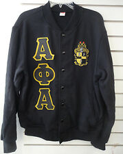 Alpha Phi Alpha American Apparel Light Weight Terry Varsity Style Sweater/Jacket