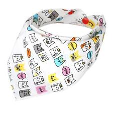 Baby Bibs Saliva Towel Toddler Bandana Triangle Head Scarf Cute Cartoon Pattern