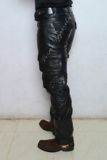 leather jeans pant Cargo Mutiutility Moto Motorcycle Motorbike tuff wear harley