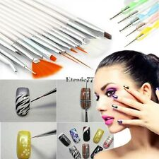 20pcs Nail Art Design Set Dotting Painting Drawing Polish Brush Pen Tools EA77