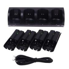 Charger Dock Station 4 x 2800mAh Rechargeable Battery for Wii Remote Controller