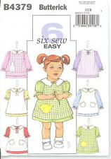 Butterick 4379 Girls' Pinafore and Dress.1, 2, 3, 4  Sewing Pattern