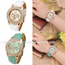 Fashion Geneva Ladies Women Girl Rhinestone Metal Alloy Quartz Wrist Watch