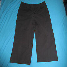 BANANA REPUBLIC Womens Crop Capri Pants Black Stretch Size 8