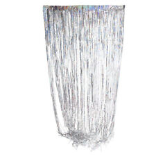 Metallic Fringe Door Window Backdrop Tinsel Foil Curtain Christmas Decoration