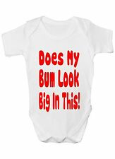 Does My Bum Look Big In This Babygrow Vest Baby Clothing Funny Gift