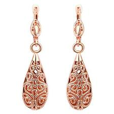 Fashion Party Prom Water Drop Dangle Earrings Delicate Carved Hollow Jewelry