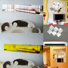6pcs Modern Mirror Effect DIY Wall Stickers Decal Decoration Livingroom Home Art