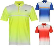 Slazenger Perforated Golf Polo Shirt Mens Tennis Short Sleeves ~All Sizes S-XXL