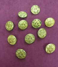 "U.S. Army Lot of 11 Vintage Uniform Buttons 1"" by N.S. Meyer Inc New York"