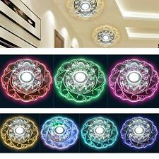 LED Crystal Round Ceiling Light Pendant Lamp Fixture Lighting Chandelier