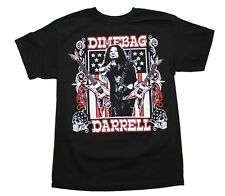 DIMEBAG DARRELL GUITARS AND FLAG Men's T-Shirt FREE delivery 100% cotton black