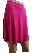 NEW HOT WOMENS GIRLS CERISE  VISCOSE BELTED ALINE SKIRT SIZE 8,10,12,14,16,18