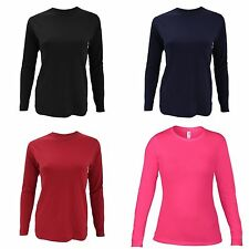 Anvil Womens/Ladies Fashion Plain Fitted Long Sleeve T-Shirt