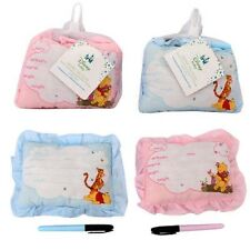 Winnie The Pooh Birth Announcement Door Pillow With Pen Pink Blue Baby Girl Boy