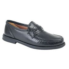 Roamers Mens Softie Leather Saddle Moccasin /Loafer Type Slip-on Casual Shoes