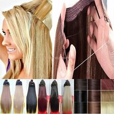 Soft One Piece Wire No Clips Headband Hair Extension Straight Curly Thick Hair F