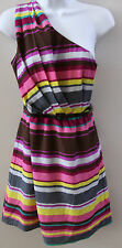 Juniors NWT Lily Rose Summer One Shoulder Striped dress XS S M L XL