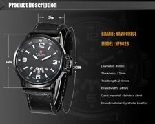 Luxury Mens Black Dial Stainless Steel Date Quartz Analog Sport Wrist Watch *HOT