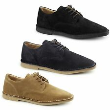 Hush Puppies GRANT Mens Suede Leather Lace Up Casual Comfy Wide Fit Desert Shoes
