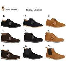 Hush Puppies HERITAGE COLLECTION Mens Vintage Casual Suede Desert Shoes & Boots
