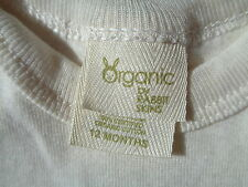 NEW ORGANIC BY RABBIT SKINS COTTON SHORT SLEEVE T-SHIRT CREAM