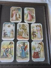 "8 VICTORIAN STYLE UNUSED POSTCARDS ""THE LORDS' PRAYER"" - FRAMED - c. 1908"