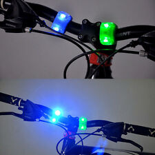 Mini Silicone Bike Bicycle MTB LED Frog Head Lamp Head & Tail Rear Flash Light