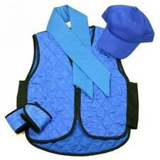 Polar Evaporative Cooling Vest Kit with Skull Cap Blue , Size Medium