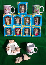 SELECTION OF PIGGIN` ITEMS, - MUGS, FIGURES, FRAMES & BROOCHES.