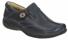 Clarks Unstructured Ladies Shoes 'Un Loop' Navy Leather