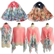 Women Lady Vintage Floral Print Long Pashmina Scarves Shawl Wrap Scarf New C7J0